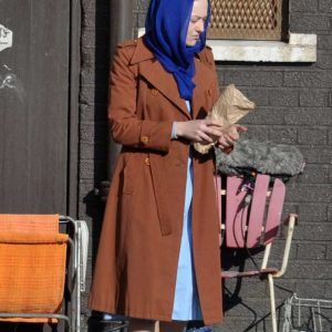 Dakota Fanning Sweetness in the Belly Lily Mitchell Abdal Double-Breasted Coat