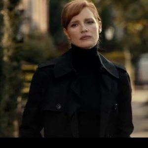 Jessica Chastain Black Double-Breasted The 355 Mace Coat