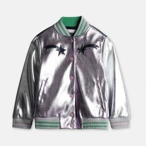 Diane Johnson Black-ish Metallic Varsity Jacket