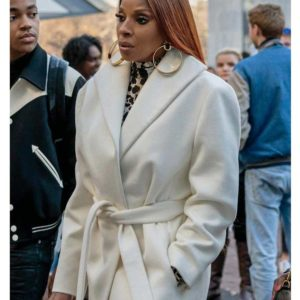 Ghost Mary J. Blige Trench White Coat