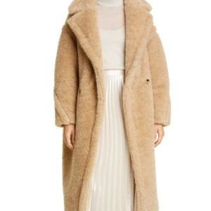 Out Of Her Mind Lucy Tan Fur Teddy Fiona Button Coat