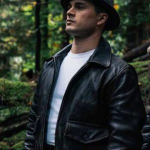 Project Blue Book Season 02 Michael Malarkey Leather Jacket