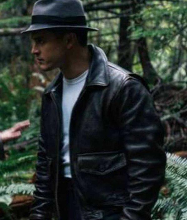 Captain Michael Quinn Project Blue Book S02 Black Leather Jacket
