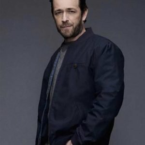 Luke Perry Riverdale SO2 Fred Andrews Blue Cotton Jacket