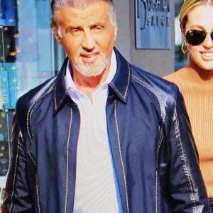 Samaritan 2021 Sylvester Stallone Blue Jacket