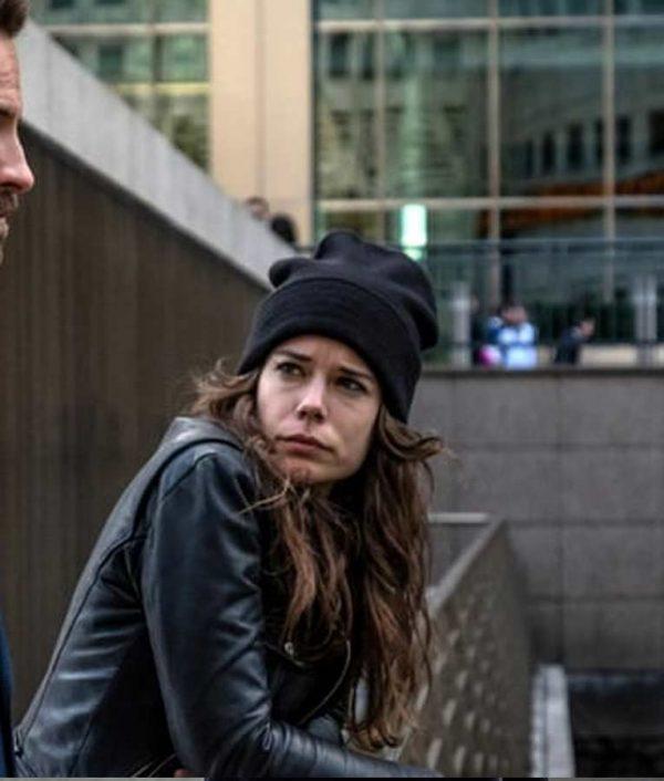 Sofia Flores Devils Laia Costa Black Leather Jacket