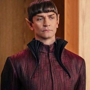 Sarek Star Trek Discovery James Frain Maroon Gown Style Long Coat
