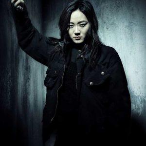Kimiko Miyashiro The Boys Karen Fukuhara Black Cotton Jacket