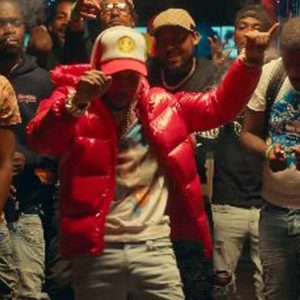 Music Video Most High Tory Lanez Red Puffer Hooded Jacket
