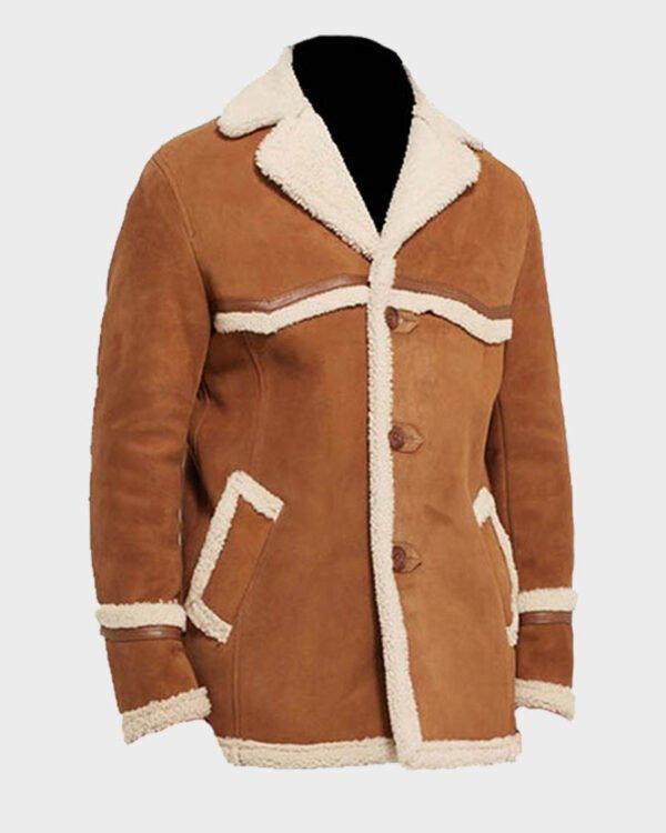 Kingsman The Golden Circle Harry Hart Fur Shearling Jacket