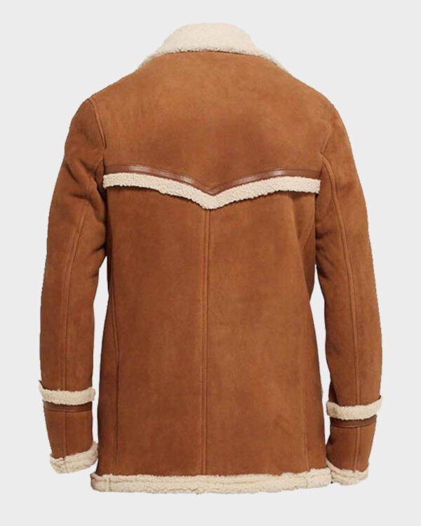 Colin Firth Kingsman The Golden Circle Harry Hart Brown Fur Jacket