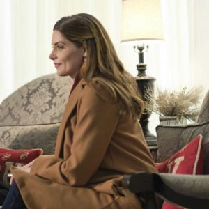 Ashley Greene A Little Christmas Charm Holly Brown Trench Coat