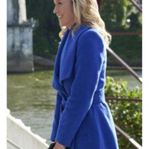 Jessy Schram Coat A Nashville Christmas Carol Blue Coat