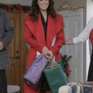 Erin Cahill A Timeless Christmas Red Trench Coat