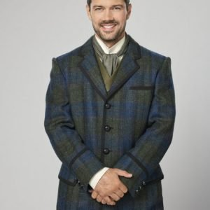 Ryan Paevey A Timeless Christmas Charles Whitley Check Coat
