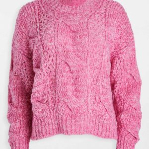 Natalie Hall A Very Charming Christmas Town Aubrey Lang Pink Sweater