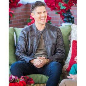 Sean Faris A Veteran's Christmas Joe Peterson Black Leather Jacket