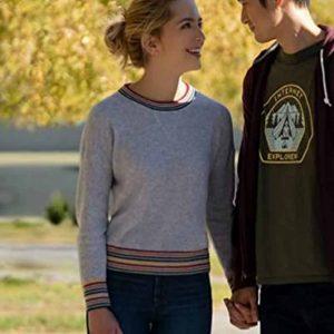Jessica Rothe All My Life Multi-Striped Sweatshirt