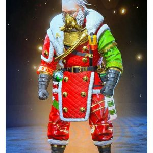 Apex Legends S07 Holo day Bash Claustic Red Shearling Coat