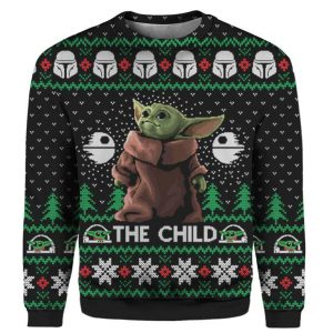 The Baby Yoda Star Wars Christmas Sweater For Men's and Women's
