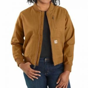 Cassie Dewell Big Sky Kylie Bunbury Tan Brown Bomber Jacket