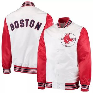 Starter White and Red Boston Red Sox Jacket