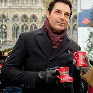 Brennan Elliott Christmas in Vienna Double-breasted Black Coat