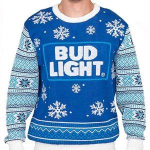 Bud Light Beer Christmas Sweater for Men's and Women's