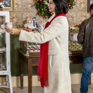 Catherine Bell Me at Christmas Joan Meet White Trench Coat