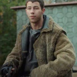 Davy Prentiss Jr. Chaos Walking 2021 Nick Jonas Sherpa Coat
