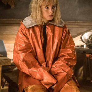 Daisy-Ridley-Orange-Parachute-Jacket