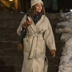 Amber Stevens Christmas Unwrapped Charity Jones Trench Coat