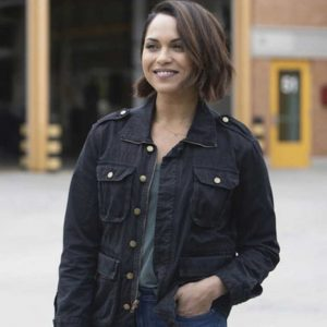 Monica Raymund Chicago Fire Season 08 Gabriela Dawson Cotton Jacket