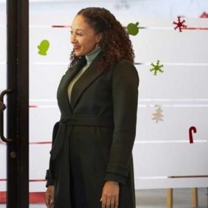 Christmas Comes Twice Tamera Mowry-Housley Green Trench Coat