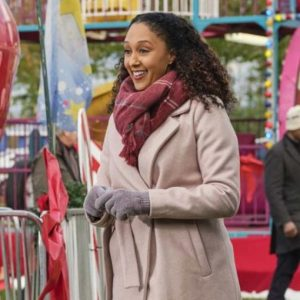 Tamera Mowry-Housley Christmas Comes Twice Wool-blend Trench Coat