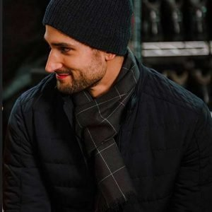 Scott Cavalheiro Christmas with a View Shane Black Quilted Jacket
