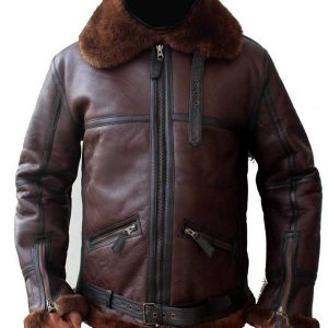 Men Coffman Brown Leather Jacket