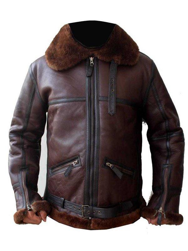 Men Coffman Brown Leather Jacket