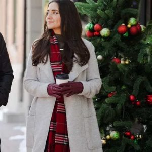 Emily Dashing Home for Christmas Paniz Zade Trench White Coat