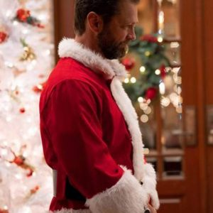 Dear Christmas Santa Jason Priestley Red Costume Jacket