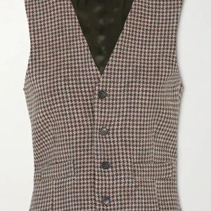 Tv Show The Drew Barrymore Drew Wool Checked Vest