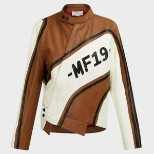 Ellen Women's Brown Leather Motorcycle Jacket