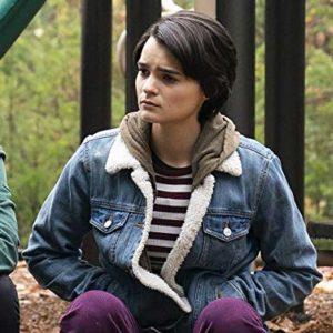 Brianna Hildebrand TV Series Trinkets Elodie Davis Blue Denim Sherpa Jacket
