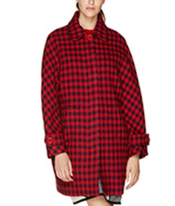 Emily Copper Emily In Paris Red Checked Coat