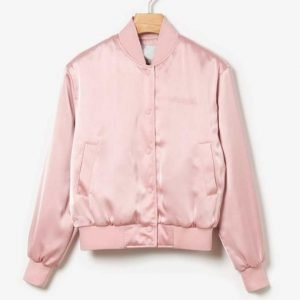 Lily Collins Emily In Paris Emily Cooper Pink Bomber Jacket