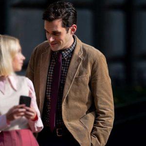 Gossip Girl Adam Chanler-Berat Brown Corduroy Blazer Jacket