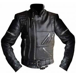 Hein Gericke Live Eagle Black Leather Motorcycle Jacket