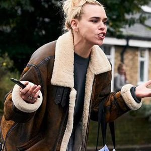 Suzie Pickles I Hate Suzie Billie Piper Fur Leather Jacket
