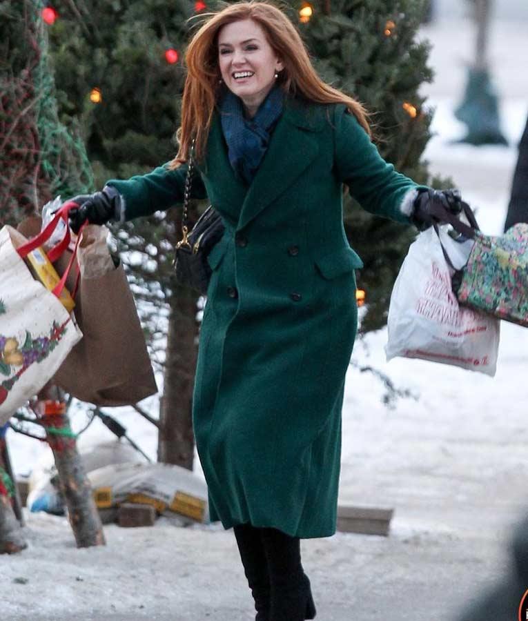 Isla Fisher Godmothered Green Coat | Mackenzie Trench Coat