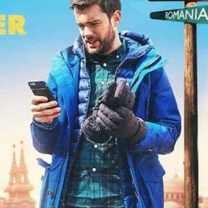 Jack Whitehall Travels With My Father Blue Parka Jacket with Hood
